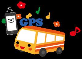 GPSで車両位置が特定できます